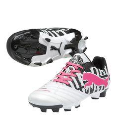 PUMA Metallic White PowerCat 3 FG Junior Soccer Cleat 8ba20affba9