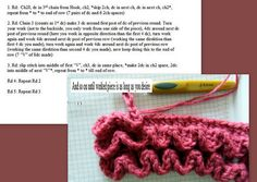 layered ruffles tutorial. Another with photos http://www.lionbrand.com/cgi-bin/faq-search.cgi?store=/stores/eyarnfaqKey=264