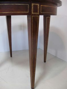 Leather and Wood Center / Side Table | From a unique collection of antique and modern center tables at http://www.1stdibs.com/furniture/tables/center-tables/