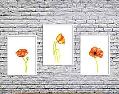 Poppies,Poppies print, Watercolor print, Printable art, Watercolor painting, Printable Art, Printable watercolor, Instant Download, wall art