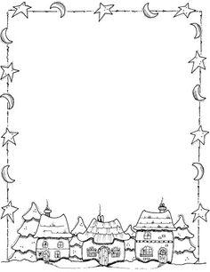Winter houses et plein d'autres coloriages Noël sur   https://fr.pinterest.com/lambinmarielise/mandala/