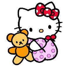 helo kitty bebe con su peluche
