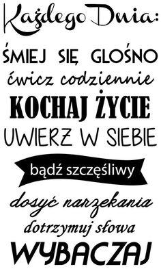 """Naklejki napisy na ścianę """"każdego dnia"""" PROJEKT 712 AG.art deco"""