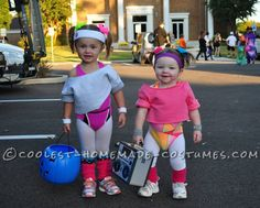Cutest 80′s Workout Girls Couple Costume for Toddlers... Coolest Halloween Costume Contest