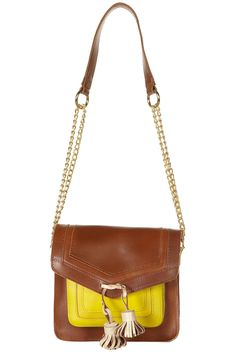 TAN CONTRAST POCKET TASSEL CHAIN STRAP BAG  Price:$90.00 from TopShop