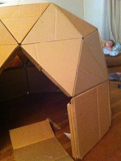DIY Kids Cardboard Playdome