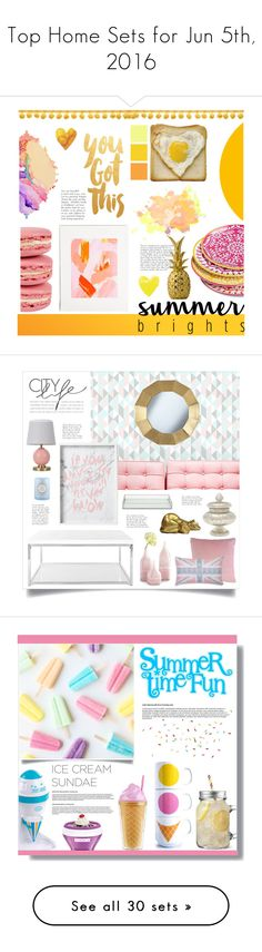 """""""Top Home Sets for Jun 5th, 2016"""" by polyvore ❤ liked on Polyvore featuring interior, interiors, interior design, home, home decor, interior decorating, Mudhut, Seed Design, Bloomingville and Safavieh"""