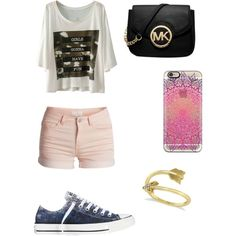 Untitled #7 by ellenks on Polyvore featuring polyvore, fashion, style, Pieces, Converse, Michael Kors and Allurez
