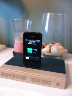 DIY ipod book dock. This is such a good idea!