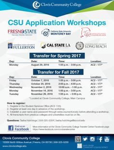 Don't miss the CSU Application Workshop on Thursday, October 20th, from 2:00 p.m. to 4:00 p.m. Register in the Student Services Office in AC2-177. You must register at least one day in advance of the workshop. #CSU #Transfers