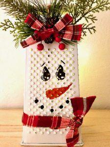 Christmas Craft Fair, Snowman Christmas Decorations, Christmas Crafts To Make, Snowman Crafts, Christmas Centerpieces, Holiday Crafts, Christmas Holidays, Diy Christmas Projects, Diy Christmas Snowflakes