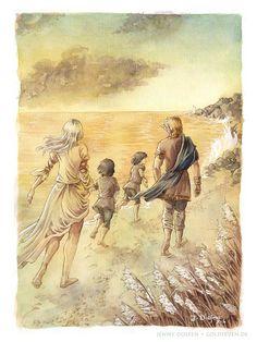 Eärendil Elwing Elrond and Elros Jenny Dolfen Illustration : Photo