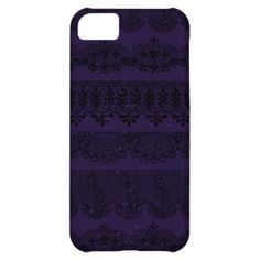 Purple Lace Rows Effect Case For iPhone 5C