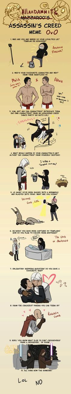 Pinned for the pole-dancing and cell phone  Assassin's Creed Meme by allahdammit on deviantART