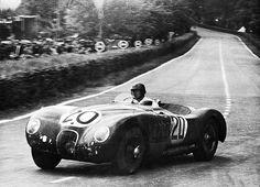 1951 Le Mans Peter Walker in Jaguar C-type