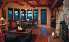 If I lived in the mountains! Strawbale Living and Dining Room - contemporary - living room - denver - Robert Hawkins Cabin Design, House Design, Floor Design, Straw Bale Construction, Southwestern Decorating, Southwestern Style, Southwest Decor, Tadelakt, Straw Bales