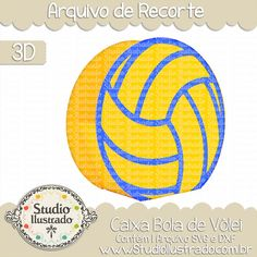 Caixa Bola de Vôlei, Caixa Bola de Vôlei,  Caixa, Bola de Vôlei, volei, esporte, sport, Volleyball Box, Volleyball, Box, projeto 3d, boxes, box, arquivo de recorte, caixa, 3d,svg, dxf, png, Studio Ilustrado, Silhouette, cutting file, cutting, cricut, scan n cut.