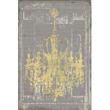 Chandelier 3 in Gray by IHD Studio Painting on Wrapped Canvas