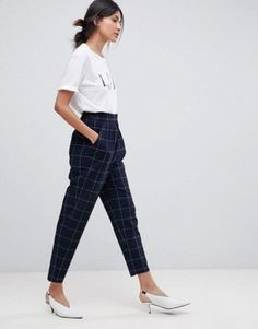 Find the best selection of ASOS TALL Grid Check Tailored Tapered PANTS. Shop today with free delivery and returns (Ts&Cs apply) with ASOS! Clothing For Tall Women, Clothes For Women, Fashion Pants, Fashion Outfits, Fall Outfits, Cute Outfits, Asos, Business Outfits, Pants Outfit