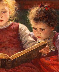 children Reading Art - Walther Firle 'Three Reading Girls The Fairytale' (detail) New Children's Books, I Love Books, Good Books, Books To Read, Reading Art, Woman Reading, Children Reading, Art Children, Reading Books