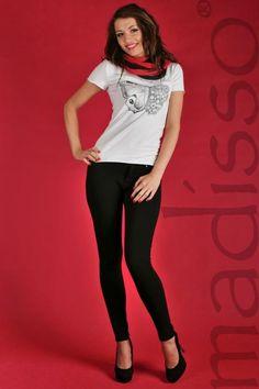 Koszulka z nadrukiem - motyl czarny MADISSO S - od 1 zł BCM