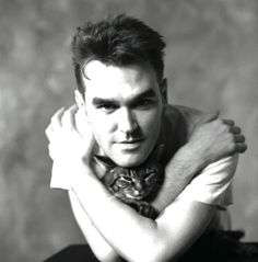 """""""Here Moz is in a studio in London with his cat, in 1989. He was always the animal lover and championed their cause."""" Picture: Lawrence Watson"""