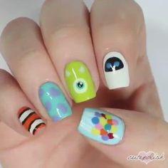 Disney Acrylic Nails, Cute Acrylic Nails, Cute Nails, Pretty Nails, Easy Disney Nails, Disney Manicure, Disney Nail Designs, Nail Art Designs Videos, Nail Designs For Kids