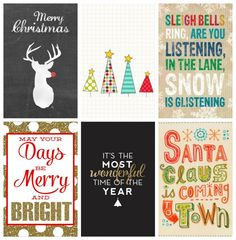 Could also be used as inserts for Project Life FREE iphone wallpaper christmas printables