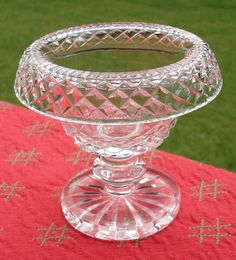 RARE Waterford Crystal Footed Collared Dessert Bowl Dish | eBay