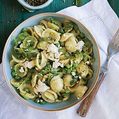 Orecchiette with Cress and Spring Pea Sauce from Cooking Light (May 2014)