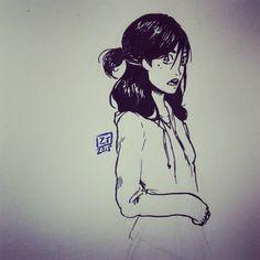 #inktober day 5 #protagonist of a #comic im working on #ztdraws #artstagram #inktober2015day5 #instadaily #instadraw #traditionalart #inktober2015