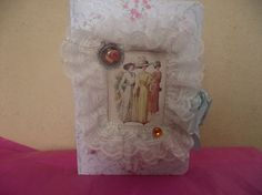 Ladies  Journal  Ruffle  Lace  Eiffel Tower Charm  by mslizz, $17.00