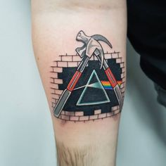 Something a bit different for pink floyd Beatles Tattoos, Leo Tattoos, Music Tattoos, Sleeve Tattoos, Rock Tattoo, Band Tattoo, Pink Floyd Hammers, Pink Floyd Artwork, Arte Pink Floyd