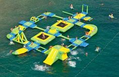 Massive Floating Playgrounds-The Wibit Sports Park 60 is an Inflatable Water Park Wonderland