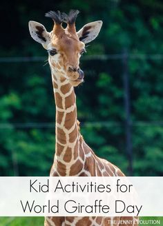 Kid Activities for World Giraffe Day + Children's Books Featuring Giraffes   The Jenny Evolution. Pinned more than 1,000 times!