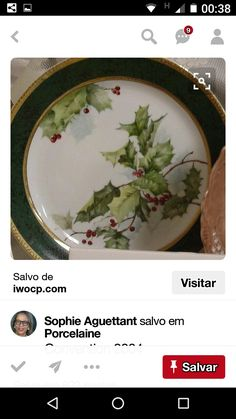 Christmas China, Christmas Plates, All Things Christmas, Xmas, Painted Porcelain, China Porcelain, Hand Painted, Christmas Dinnerware, Winter Table
