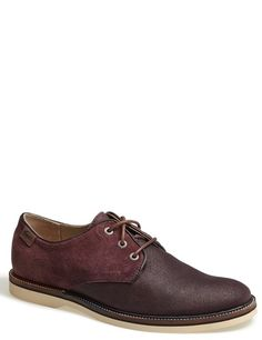 Burgundy Leather Derby Shoes by Lacoste. Buy for $150 from Nordstrom