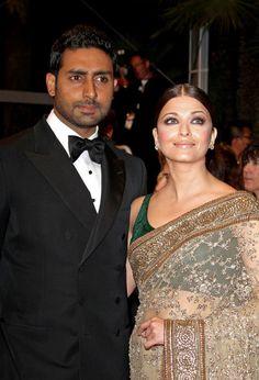 "Aishwarya Rai Photos Photos - Real-life couple and stars of ""Raavan"" Aishwarya Rai and Abhishek Bachchan attend the film's premiere at the 63rd Cannes Film Festival. - Aishwarya Rai and Abhishek Bachchan at the Premiere of 'Raavan'"