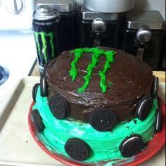 Monster Energy Flavored Cake