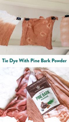 DIY Natural Tie-Dye with Pine Bark Powder - Creates a beautiful neutral red brown color! Step-by-step instructions through the link. to tie dye shirts step by step Diy Natural Tie Dye, Natural Dye Fabric, Natural Dyeing, How To Tie Dye, How To Dye Fabric, Dyeing Fabric, Tie Dye Shirts, Fabric Dyeing Techniques, Diy Tie Dye Techniques