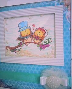 card matrimonio wedding gufi riso rice owls azzurro e tiffany : Biglietti di chiara-scrapchic