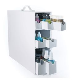 Totally Tiffany Stash & Store Sparkle & Sprinkle Case WhiteTotally Tiffany Stash & Store Sparkle & Sprinkle Case White, - Hmmmm...wondering about this and whether it might be a good storage option.  Looks like chipboard and could probably be easily decorated with some mod podge.