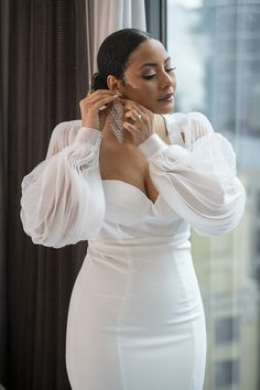 Courthouse Wedding Dress, Civil Wedding Dresses, Black Wedding Dresses, Wedding Attire, Bridal Dresses, Wedding Gowns, Womens Wedding Suits, Wedding Bells, Wedding Ring