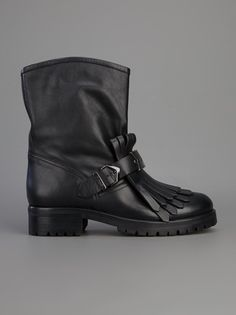 PINKO - fringed biker boot 7