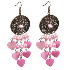 Find More Drop Earrings Information about Cute Design Pink Series Pearl and Heart Shape Shell Dangle Earrings,High Quality earrings cc,China pearl pouch Suppliers, Cheap earring findings from Lucky Fox Jewelry on Aliexpress.com