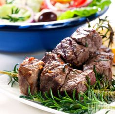 These are delicious served with rice, flatbread and tzatziki sauce. Lamb Kebabs Recipe from Grandmothers Kitchen. Paleo Recipes Easy, Lamb Recipes, Greek Recipes, Chinese Recipes, Cooking 101, Cooking Recipes, Lamb Kebabs, Beef Marinade, Grandmothers Kitchen