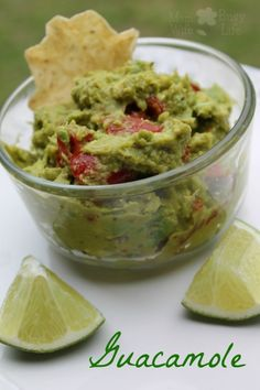 Easy Guacamole Recipe - perfect for serving with your favorite tortilla chips or Mexican food dishes! A recipe you'll love!