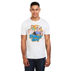 Family Guy Mens - The Griffins - T-Shirt - White - XL