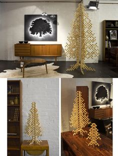 Christmas Tree Ideas: Create the Unconventional Christmas Tree Your Own:  Luxury christmas tree designs with golden color ideas and unusual shape  amazing ...