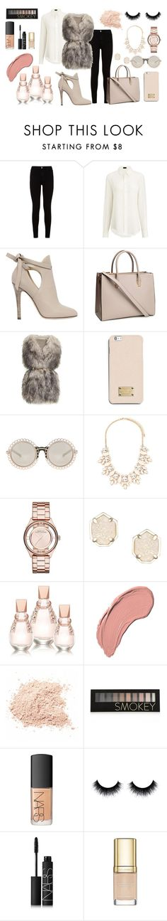 """""""Winter style"""" by tess-302 ❤ liked on Polyvore featuring 7 For All Mankind, Joseph, Jimmy Choo, H&M, PINGHE, MICHAEL Michael Kors, Forever 21, Marc by Marc Jacobs, Kendra Scott and GUESS"""
